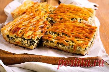 Закусочный пирог из огородной зелени