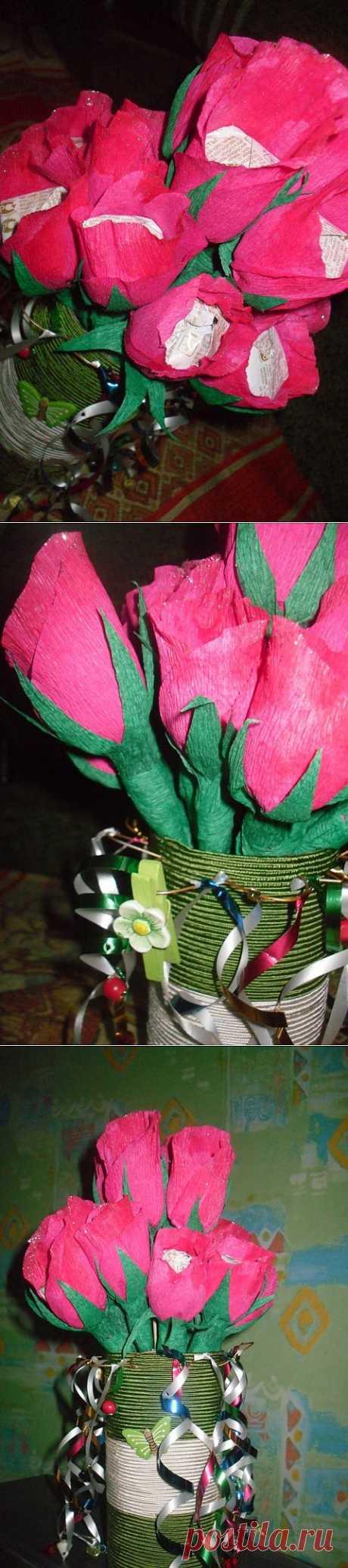 (+1) - Цветы из конфет | СВОИМИ РУКАМИ