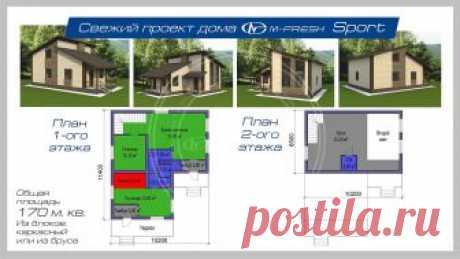 M-fresh Sport (Проект 1-этажного дома с мансардой! Посмотрите! ) - Проекты домов во Владивостоке
