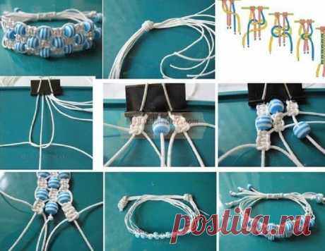 Браслеты макраме: идеи и схемы плетения ~ Свое рукоделие