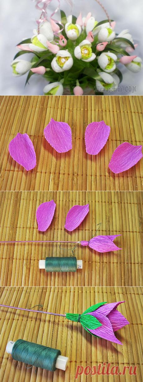 Варианты, как пошагово сделать цветы из различных конфет и сладостей