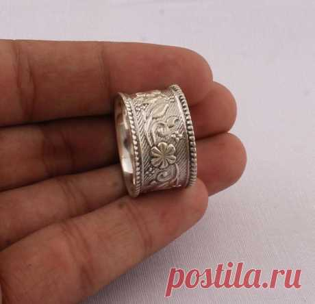 Thumb Ring 925-Antique Silver RingSterling Silver   Etsy