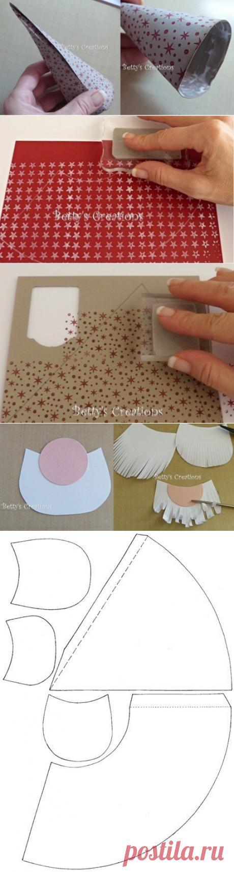 Новогодние гномики из бумаги