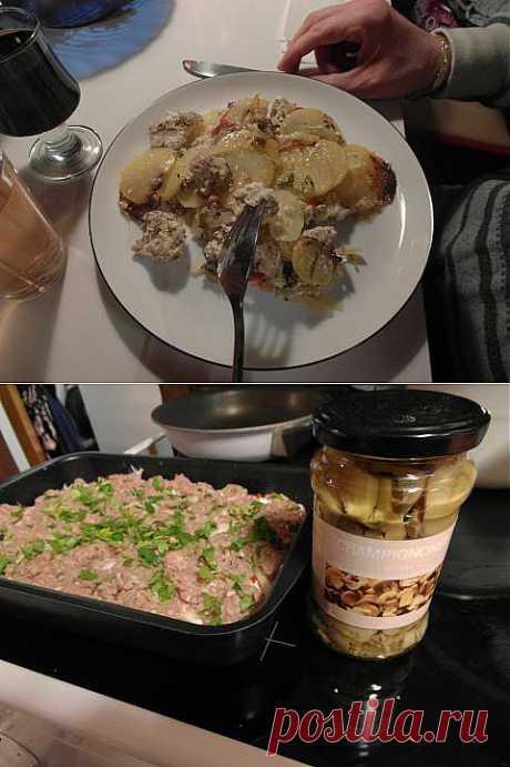 2 быстрых блюда из одних и тех же продуктов - запеканка и заморозка из фарша и картофеля | 4vkusa.ru