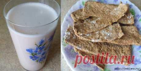 Гречневое молоко + хлебцы из жмыха