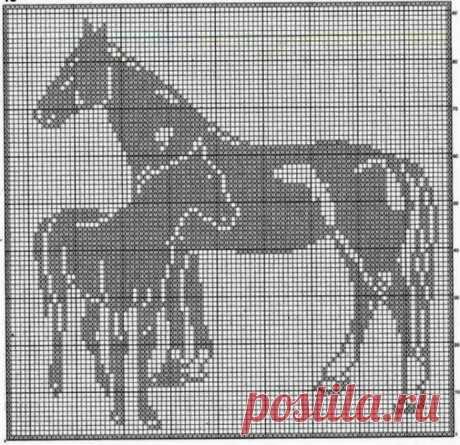 Схемы для филейного вязания: животные
