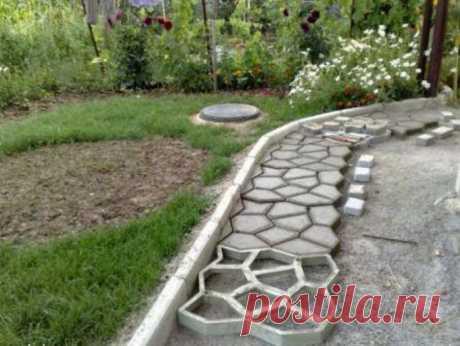 Садовые дорожки из бетона своими руками.