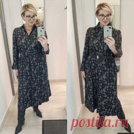 10 модных образов с платьем-рубашкой | Офигенная