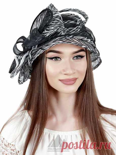Шляпа Альбина - Женские шапки - Из соломки купить по цене 3990 р. с доставкой в Интернет магазине Пильников