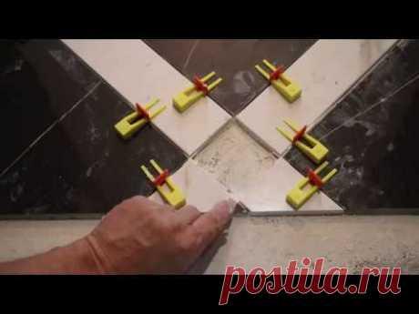 Быстрая подрезка и точная укладка плитки весь процес часть 2.