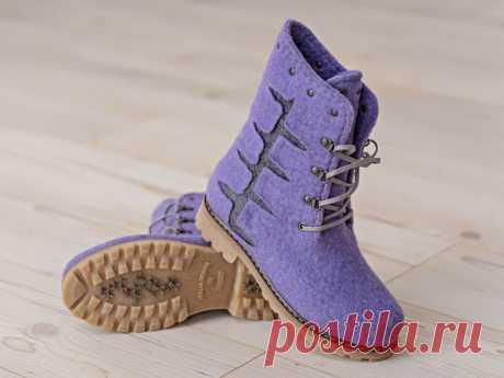 Установка валяной обуви на подошву без прошивки – Ярмарка Мастеров