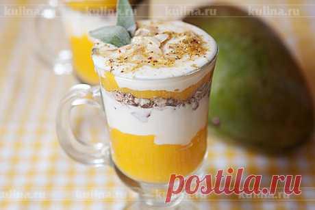 Десерт из манго с йогуртом – рецепт приготовления с фото от Kulina.Ru