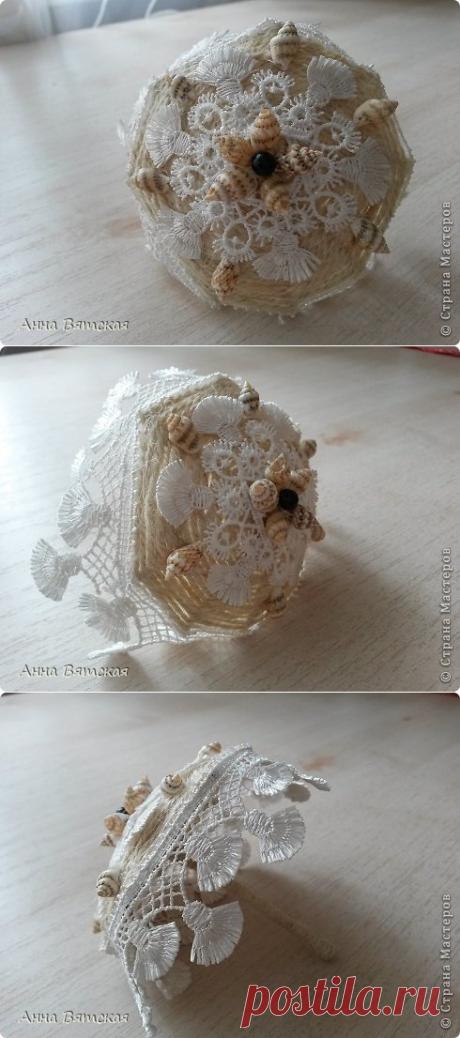Джутовый зонтик из шпилек-экспресс вариант - Nebka.Ru