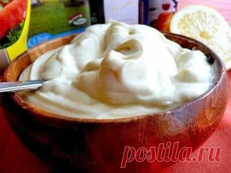 Home-made mayonnaise without eggs in 5 minutes   Simple and tasty recipes