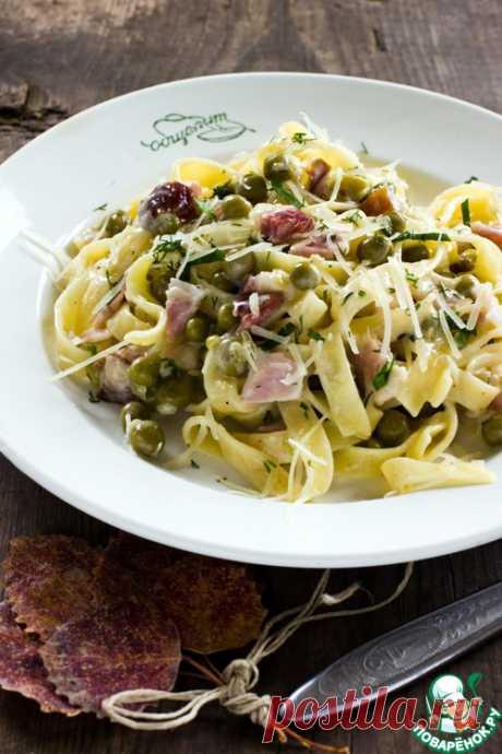 Паста с ветчиной и зеленым горошком – кулинарный рецепт