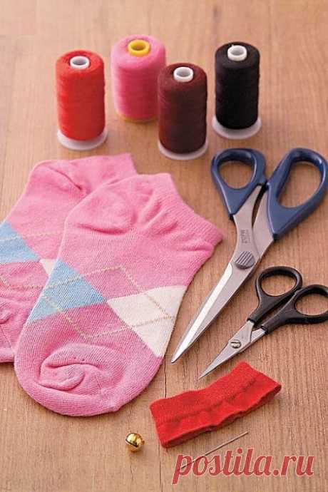 Игрушка — кот из носка | Мастер классы | рукоделие, декор, полимерная глина, плетение, вышивание