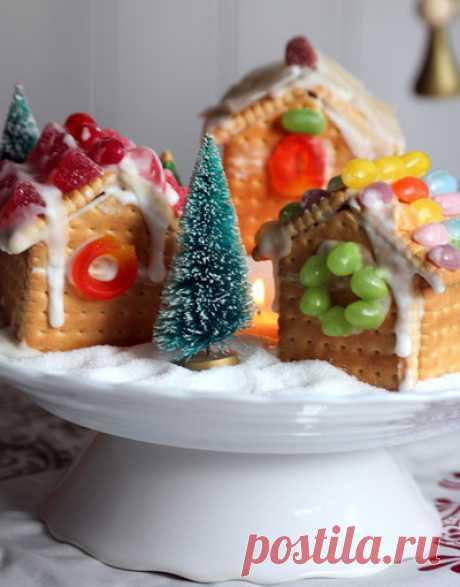 Домики из печенья и сладостей своими руками: Украшение новогоднего печенья глазурью, фото и идеи