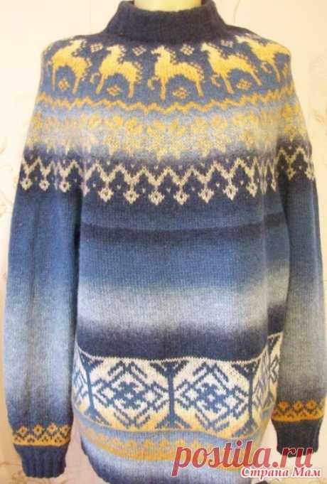 . Обережный свитер мужу! Со старославянскими символами - Вязание - Страна Мам