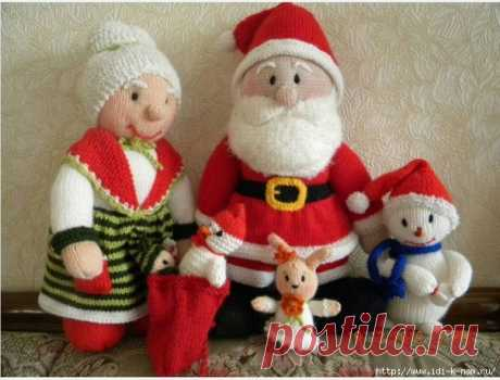 knitted Santa Claus from Jean Grinkhou