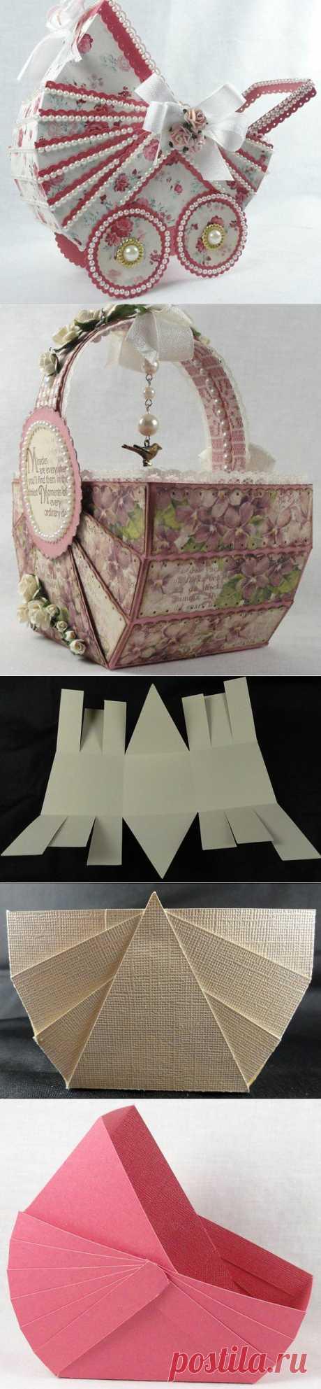 (+1) - Винтажные коляска и корзинка из бумаги. | СДЕЛАЙ САМ!