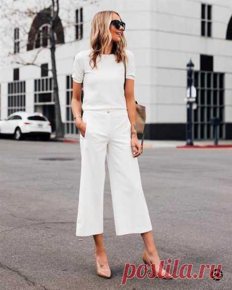 С чем носить брюки на исходе лета — 15 стильных и комфортных образов   Люблю Себя