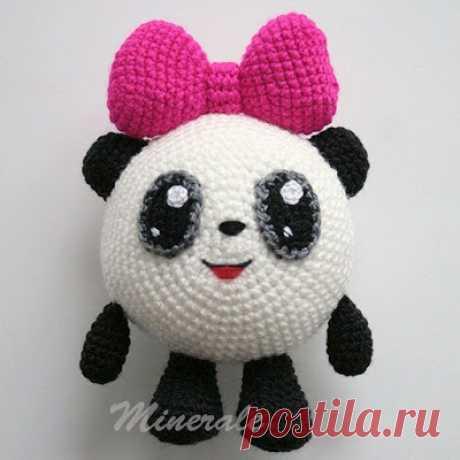 1000 esquemas amigurumi en el ruso: Malysharik la Panda por el gancho