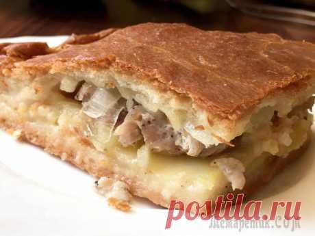 """Пирог с картошкой и мясом Добрый день!После рецепта """"дрожжевого турецкого теста"""" пользователи стали спрашивать меня о пироге с картошкой-мясом. Поэтому и решила выставить его отдельной темой. Получается что-то среднее между та..."""