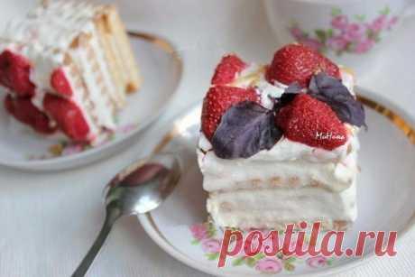 Торт из ПЕЧЕНЬЯ и ТВОРОГА, очень вкусный и нежный десерт