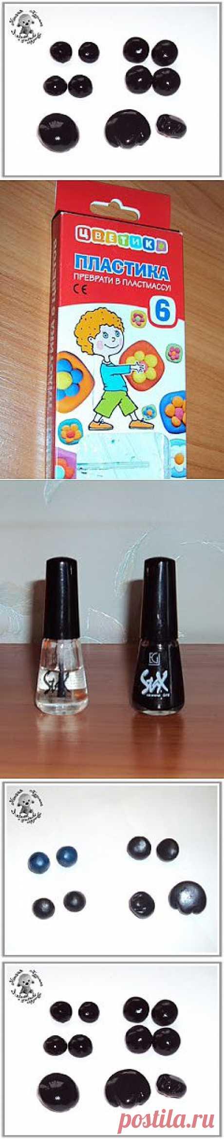 Изготовление глазоки и носиков из пластики.