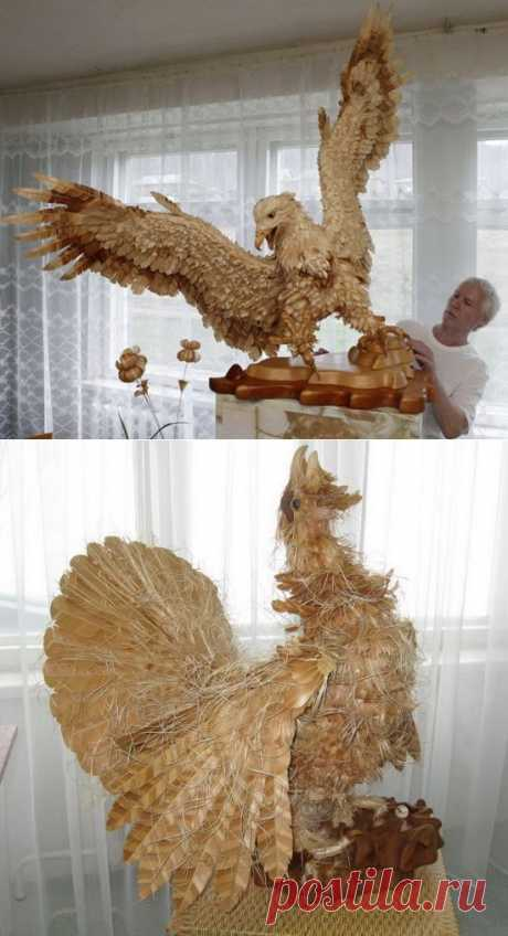 Резное.ру - Птицы и зверушки из кедровой стружки от Сергея Бобкова