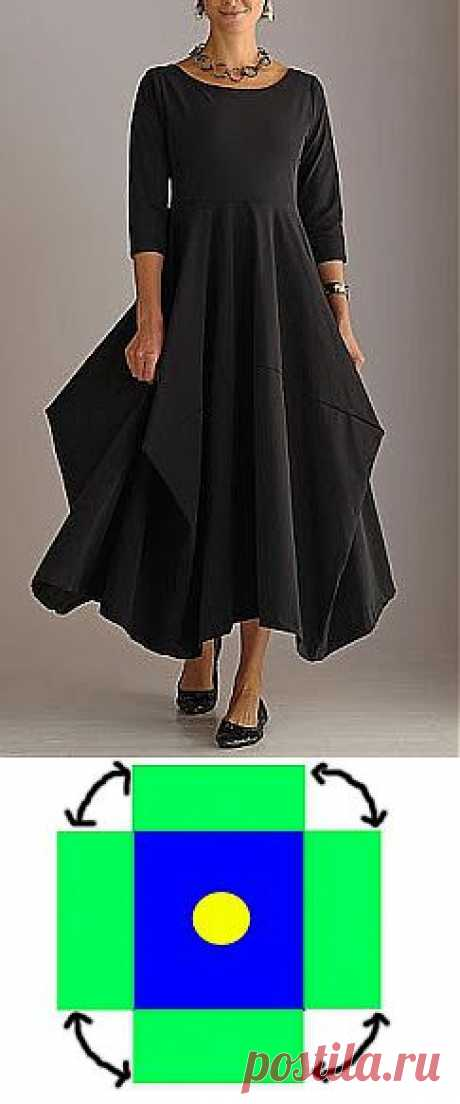 """""""Квадратная"""" skirt \/ Simple patterns \/"""