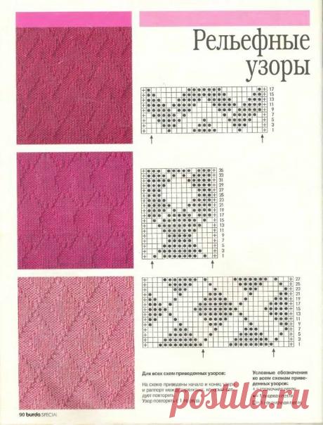 Узоры спицами на любой вкус, 35 схем - svjazat.ru