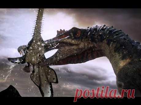 Spinosaurus fishes for prey - Planet Dinosaur - BBC - YouTube