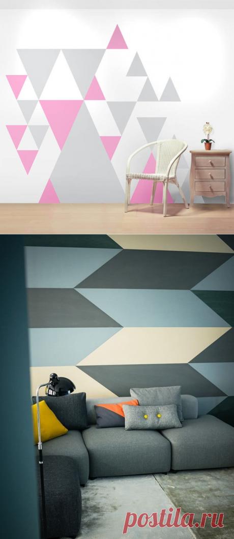 Рисунки и узоры на стенах в квартире своими руками: 10 мастер-классов