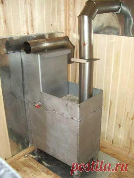 Печь для бани из металла – собираем своими руками