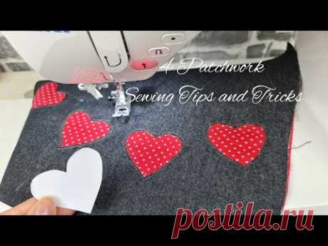 🌟 4 Amazing Sewing tips and tricks for Beginners | 4 Patchwork Sewing Tips and Tricks #25 - YouTube