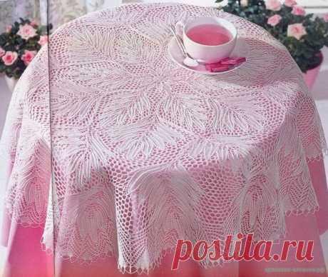 Скатерть вязаная спицами — Красивое вязание