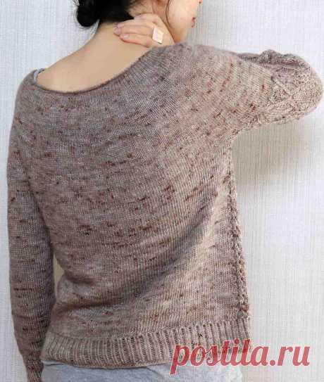 Пуловер с круглой кокеткой Karen - Вяжи.ру