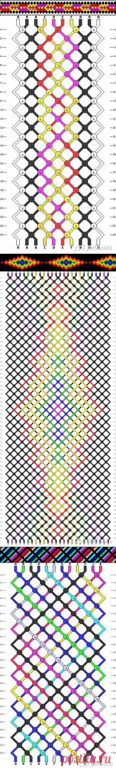 Фенечки из мулине: схемы плетения (50 схем) - 3 ребенка