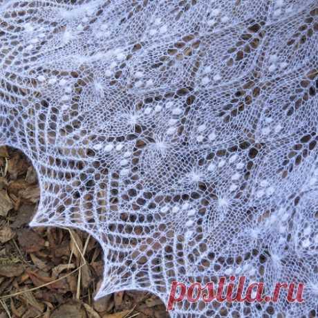 Шаль Wavy leaves and butterflies   Knitting club // нитин клаб
