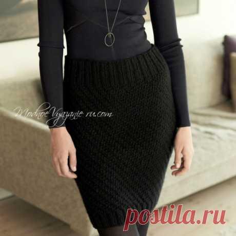 Классическая юбка-карандаш вязаная спицами - Modnoe Vyazanie ru.com
