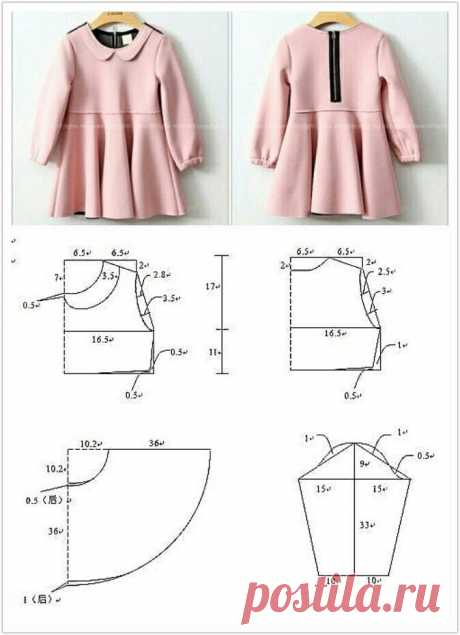 Pattern of a children's dress