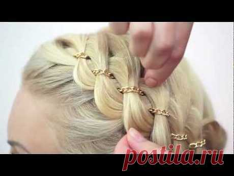 Weaving of hair Aleksandra Krinitskaya - YouTube
