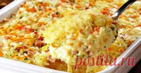 Если у тебя остался отваренный рис, обязательно приготовьте такую запеканку. Румяная и сырная… - Apetitno.TV