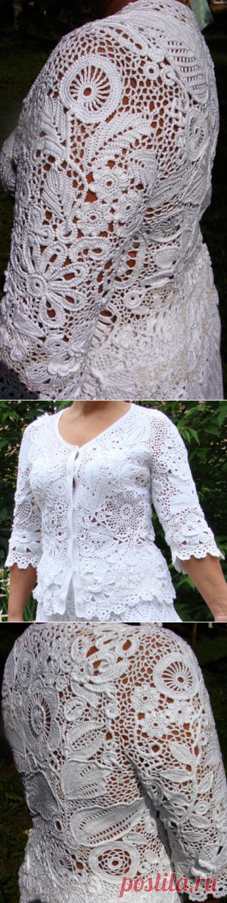 Костюм крючком: юбка+жакет