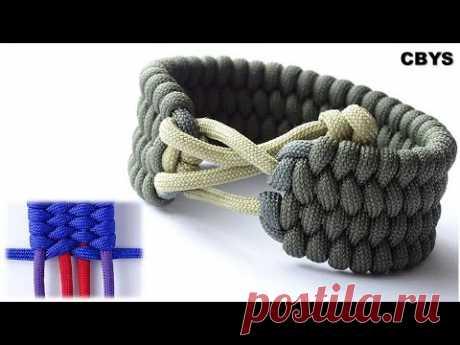 Широкий 4-рядный браслет в стиле трилобита - Создайте браслет для выживания из паракорда в стиле Безумного Макса - DIY CBYS