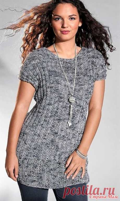 Tunic with a relief pattern. Spokes. - KNITTED FASHION + FOR NOT MODEL LADIES - the Country of Mothers
