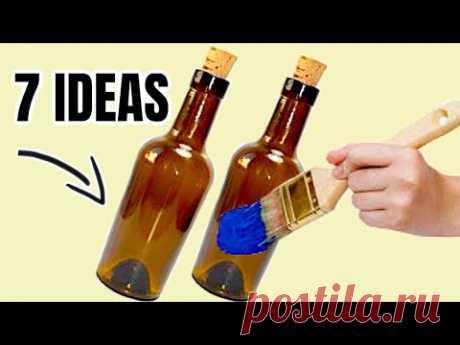 Botellas de Vidrio Decoradas - 7 IDEAS INCREÍBLES Y FÁCILES DE HACER