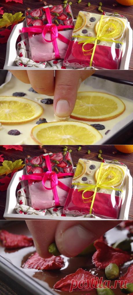 Вкусный и очень красивый подарок из шоколада своими руками. Супер!