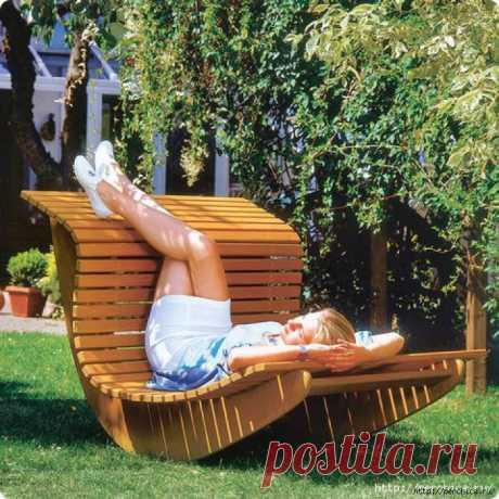 Кресло – качалка для сада своими руками.